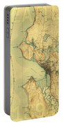 Vintage Seattle Map Portable Battery Charger
