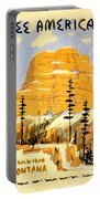 Vintage See America Travel Poster Portable Battery Charger