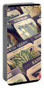 Vintage Seed Packages Portable Battery Charger by Edward Fielding