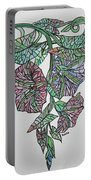 Vintage Style Stained Glass Morning Glory Portable Battery Charger