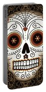 Vintage Sugar Skull Portable Battery Charger by Tammy Wetzel
