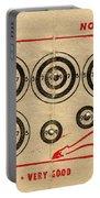 Vintage Target Card Portable Battery Charger
