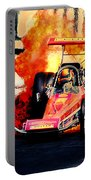 Vintage Top Fuel Dragster Fire Burnout-wild Bill Carter Portable Battery Charger