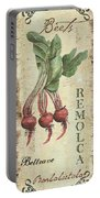 Vintage Vegetables 3 Portable Battery Charger by Debbie DeWitt