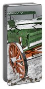 Vintage Wagon In The Snow E98 Portable Battery Charger