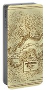 Vintage Yosemite Map 1870 Portable Battery Charger