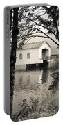 Vintaged Covered Bridge Portable Battery Charger