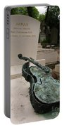 Violen Sculpture In Pere Lachaise Cemetery Portable Battery Charger