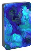 Violet Blue - Abstract Art By Sharon Cummings Portable Battery Charger