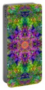 Violet Cosmos Mandala Portable Battery Charger