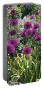 Violet Flowerbed Portable Battery Charger