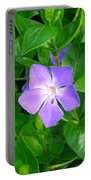 Violet Herbaceous Periwinkle Portable Battery Charger