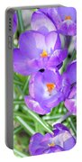 Violet Lilies Portable Battery Charger