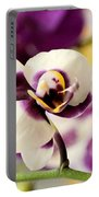 Violet Orchids Brushed With Gold Portable Battery Charger