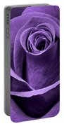 Violet Rose Portable Battery Charger by Adam Romanowicz