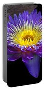 Violet Waterlily Portable Battery Charger