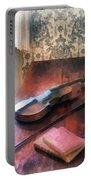 Violin On Credenza Portable Battery Charger