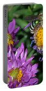 Virescent Metallic Green Bee Portable Battery Charger