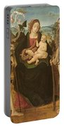 Virgin And Child Between St. John Portable Battery Charger