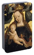 Virgin And Child With Angels Portable Battery Charger