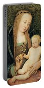 Virgin And Child With Pomegranate Portable Battery Charger by Hans Holbein the Younger