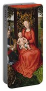 Virgin And Child With Saints Catherine Of Alexandria And Barbara Portable Battery Charger