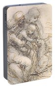 Virgin And Child With St. Anne Portable Battery Charger