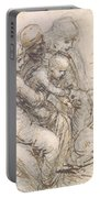 Virgin And Child With St. Anne Portable Battery Charger by Leonardo da Vinci
