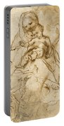 Virgin And Child With Saint Francis Portable Battery Charger