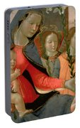 Virgin And Child With St John The Baptist And The Three Archangels Portable Battery Charger