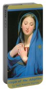 Virgin Of The Adoption Poster Portable Battery Charger