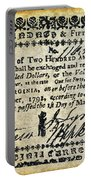 Virginia Banknote, 1781 Portable Battery Charger