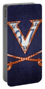 Virginia Cavaliers College Sports Team Retro Vintage Recycled License Plate Art Portable Battery Charger