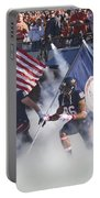 Virginia Cavaliers Football Team Entrance Portable Battery Charger by Jason O Watson