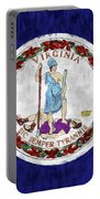 Virginia Flag Portable Battery Charger