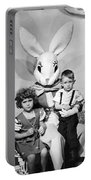 Visiting The Easter Bunny Portable Battery Charger