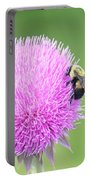 Visitor On Thistle Portable Battery Charger
