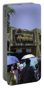 Visitors Thronging The Jurassic Park Rapids Adventure Ride Portable Battery Charger