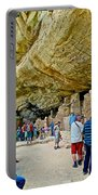Visitors To Spruce Tree House On Chapin Mesa In Mesa Verde National Park-colorado Portable Battery Charger
