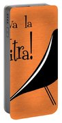 Vitra Bird On Orange Portable Battery Charger