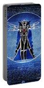 Vitruvian Cyberman In Deep Space  Portable Battery Charger