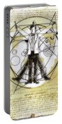 Vitruvian Dr Who Portable Battery Charger