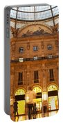 Vittorio Emanuele II Gallery Milan Italy Portable Battery Charger by Michal Bednarek