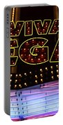 Viva Vegas Neon Portable Battery Charger by Bob Christopher