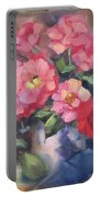 Vivacious Roses Portable Battery Charger
