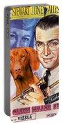 Vizsla Art Canvas Print - The Glenn Miller Story Movie Poster Portable Battery Charger