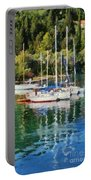 Vlychos Bay In Lefkada Island Portable Battery Charger