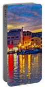 Vodice Waterfront Colorfu Evening Panorama Portable Battery Charger