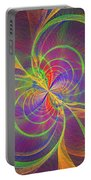 Vortex Abstract Digital Fractal Flame Art Portable Battery Charger