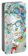 W. B. Yeats  - Watercolor Portrait Portable Battery Charger